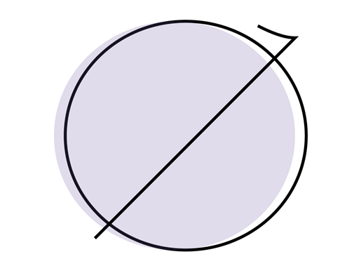 Discrimination crossed out circle illustration